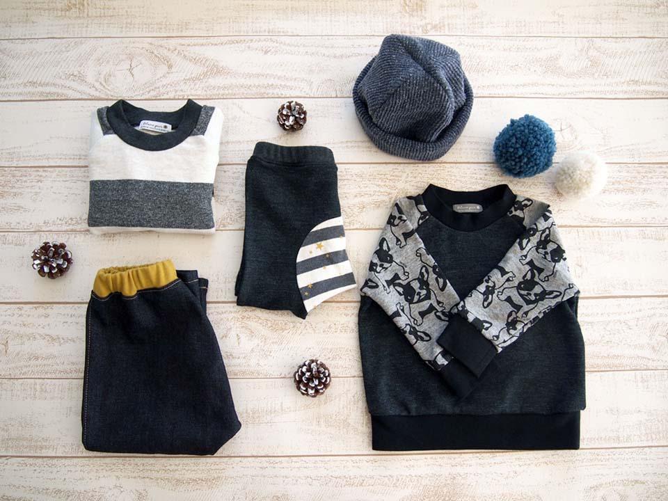 Blanc pur* ブランピュール ハンドメイド プチサルエル モンキーパンツ ニット帽